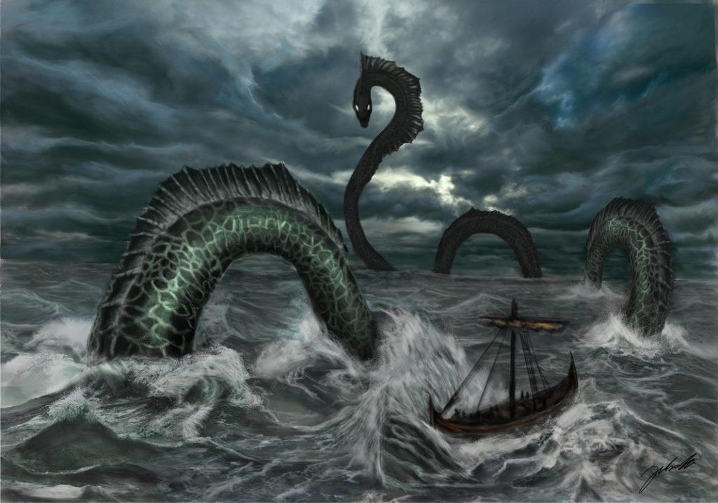 serpiente marina gigante