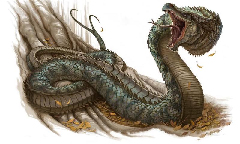 Serpiente mitológica grande, gigante