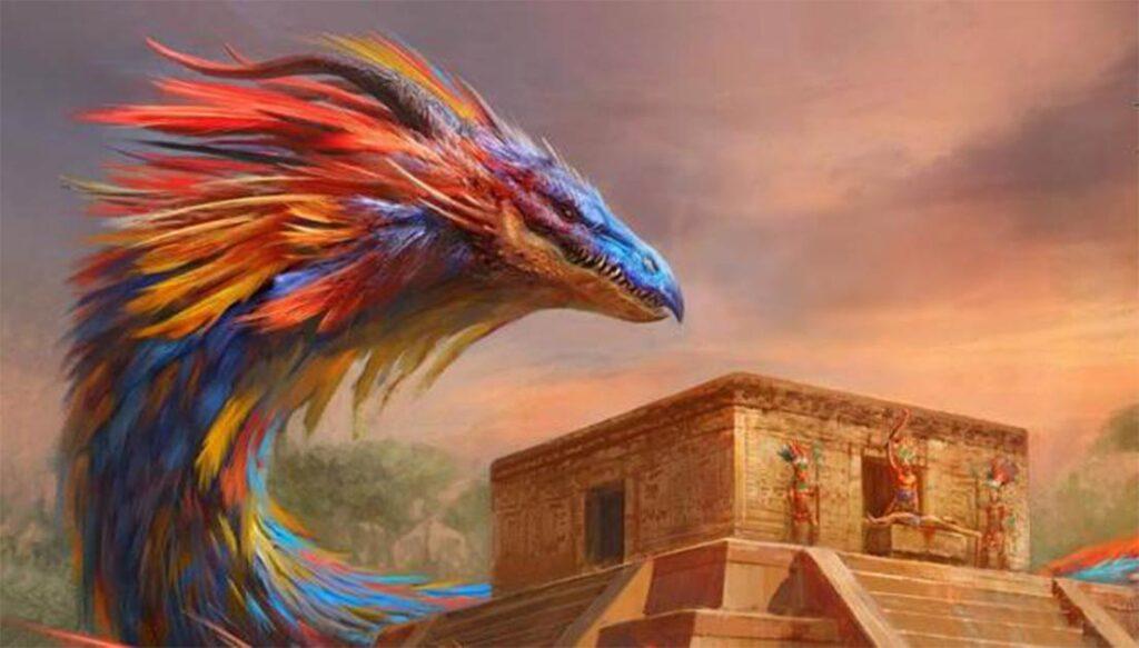 Quetzalcóatl conocido como el dios barbudo